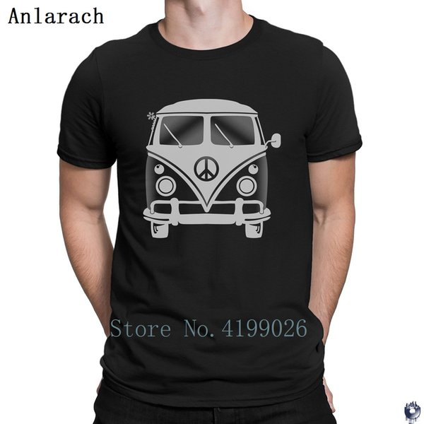 NEW Sloth In Hippie Van Mens Short Sleeve T-Shirt Black Cotton Tee