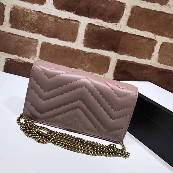 top popular Luxury Classic Love Heart V Wave Pattern Satchel Chain Bags Key Chain Real Leather Designer Crossbody Shoulder Bag Purse Messenger Handbag 2020