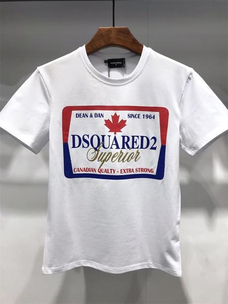 2019 nova moda masculina camiseta impressa em torno do pescoço de manga curta verão homem camisa Tops Tees 06