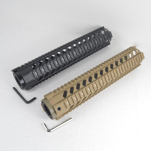 12 Inch Free Float Quad Rail Handguard Picatinny Rail System Forend Fits.223/5.56 Types Black or Tan Color
