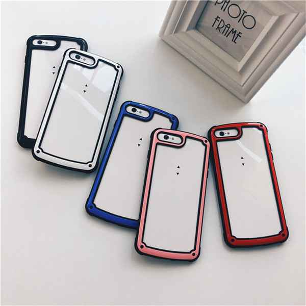 Korea Cell Phone Smartphone Case Transparent Military for IPhone X XS MAX XR 8 7 6s 6 Plus 7plus 8plus Protective Clear Full Cover