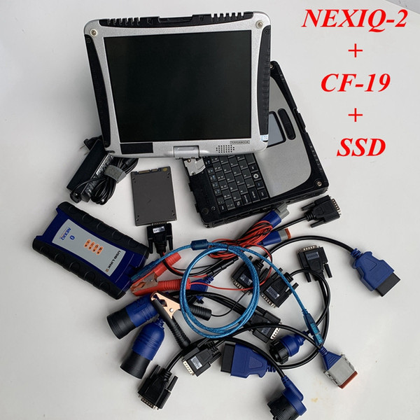 NeXIQ 2 NEXIQ2 Mit USB-Verbindung Mit CF-19 4G Laptop für schwere Lkw NEXIQ-2 ssd / HDD gut installiert