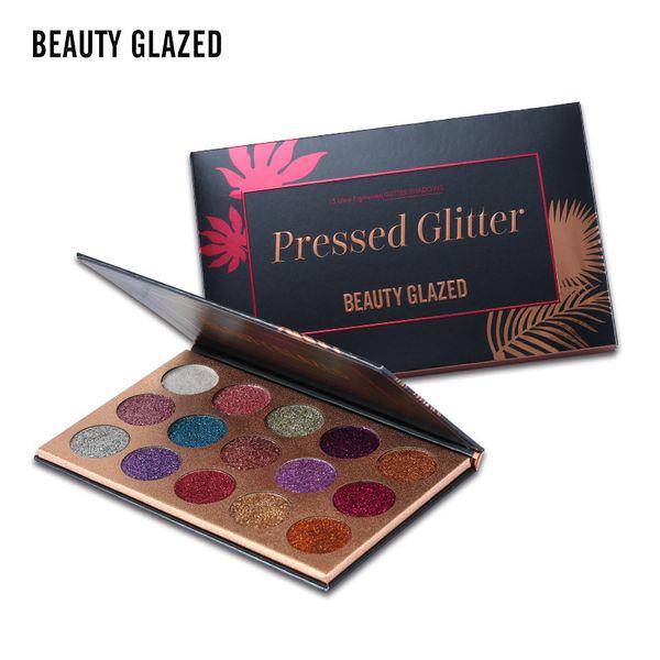 Beauty Glazed Makeup Pallete 15 Color Flash Powder Glitters Injections Pressed Eyeshadow Pallete Diamond Make Up Eye Shadow Magnet Palette