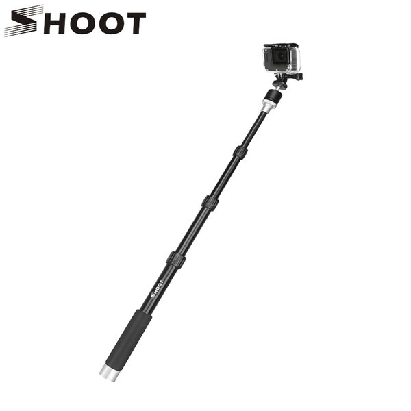 SHOOT XT-443 96cm Portable Aluminum Camera Monopod for GoPro Hero 7 6 5 4 Xiaomi Yi 4K Canon H9 dslr Selfie Stick With Ball Head