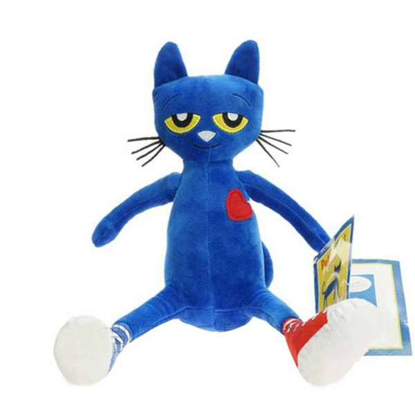35 cm Famous American Story Pete the Cat Blue Plush Doll New Stuffed Animals & Plush Children Toys Cat Stuffed Dolls