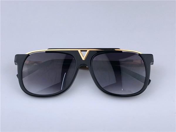 Louis Vuitton LV0937 Luxury Evidence Millionaire Солнцезащитные очки Smoke Черное золото Vintage Sunglass Мужчины дизайнерские солнцезащитные очки новые с коробкой