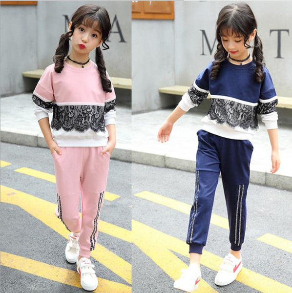 Sports Costume For Girls Lace Clothing For Girls Autumn Infant Girl Clothes Spring Teenage Girls Clothing 8 11 13 Years