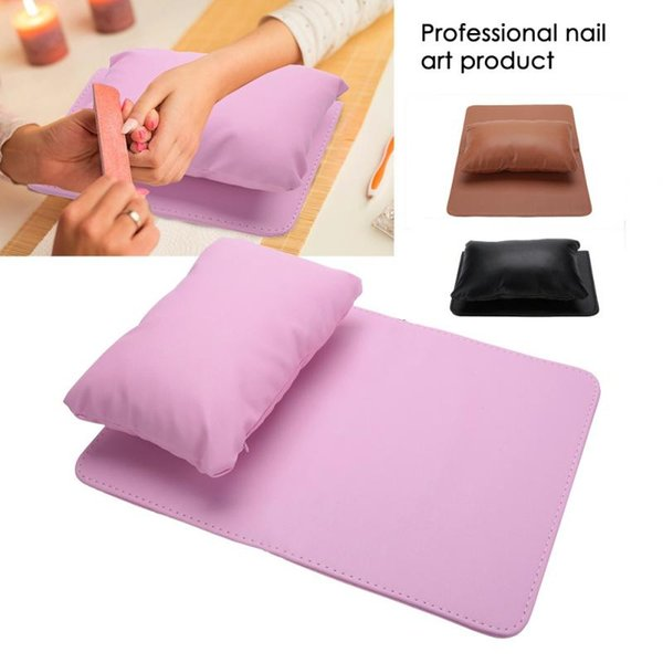 Nail Art Equipment Hand Rest Cushion Pillow Soft PU Leather Hand Holder + Folding Manicure Table Mat Manicure NailArt Equipment
