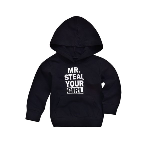 Genuine Kid Clothes Toddler Infant Baby Boys Girls Letter Print Hooded Tops Pullover Sweater Outfits Kids Hoodies
