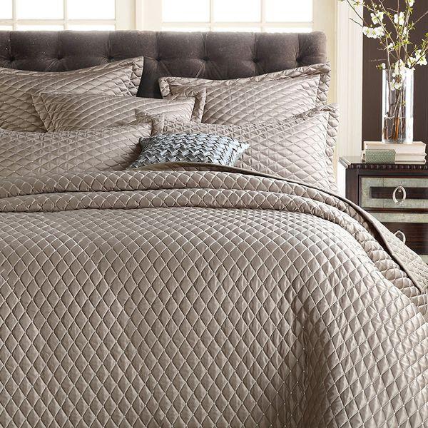 CHAUSUB Luxus Seide Tagesdecke Baumwolle Quilt Set 3pcs / 5pcs Einfarbig Baumwolle Quilts Bettdecke Shams King Queen Size Bettdecke