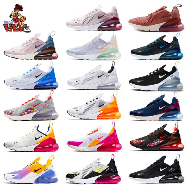 best selling Man women 270 Running Shoes Olive Bruce Lee Rainbow 27C Triple Airs University sports Maxes 270s Sneakers Size 36-45
