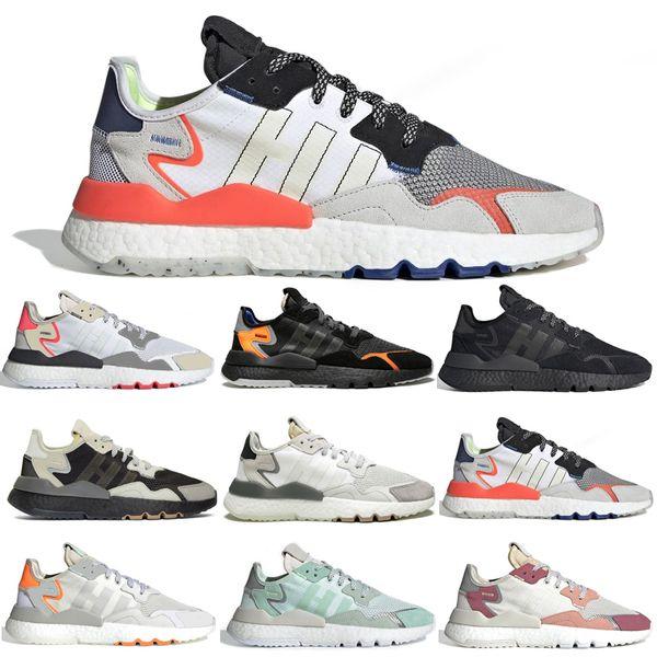 Nite Jogging Yapan Koşu Ayakkabı 3 M Yansıtıcı Üçlü Çekirdek Siyah Gri Pembe Kadın Erkek Traner Moda Tasarımcısı Atletik Spor Sneakers 36-45