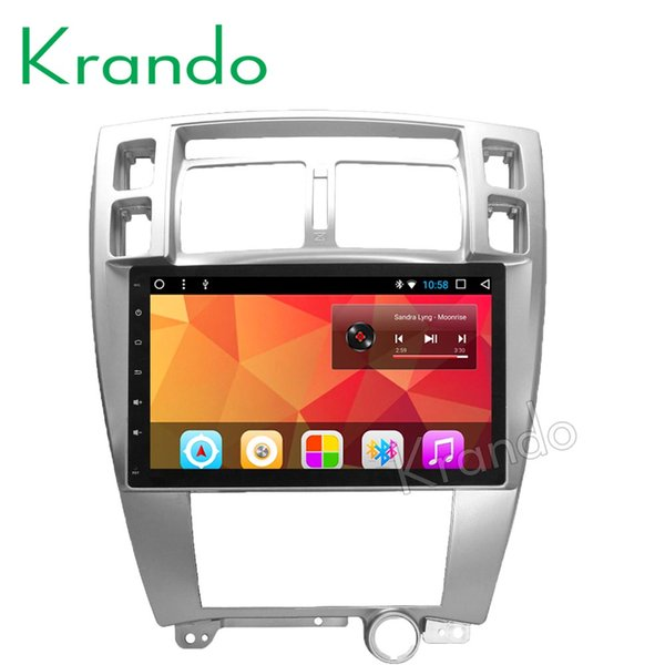 "Krando Android 8.1 10.1"" IPS Big screen car multimedia system for HYUNDAI TUCSON 2004-2010 Automatic AC radio player GPS wifi BT car dvd"