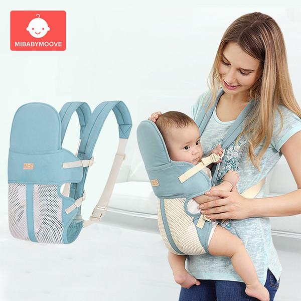 0-24 Mesi Anteriore Seggiolino Marsupio Zaino Portatile Traspirante Sling Baby Wrap Canguro neonato Cinghia per il trasporto