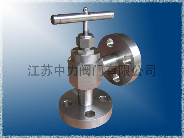Stainless steel high temperature high pressure angle stop valve