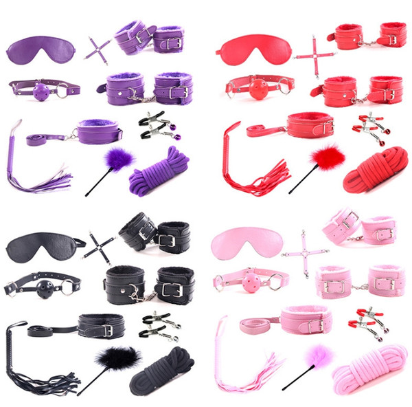 HOT Bondage Beginners/Starter Kit/Pack Cuffs Restraint Fetish Sex Toy for Women BDSM Sex Products