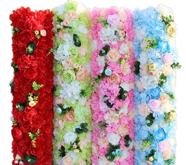 100 x25CM Artifical Rose Hydrangea Styles Flower Rows for Wedding Party Arch and T Station Decoration Flowers DIY Supplies
