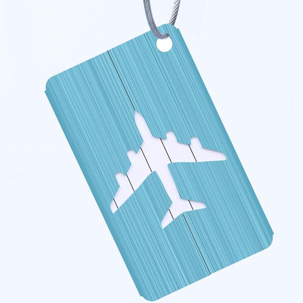 Scatola di trascinamento Accessori Etichetta identificativa RFID Blocking Bagaglio Tag Biglietto da viaggio Modello di aereo anti-perso Uso all'aperto da viaggio