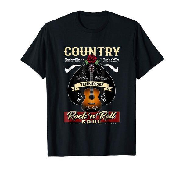 T-Shirt personalizzata da uomo a maniche corte con motivo a manica corta da uomo a maniche corte Nashville degli anni '50 del Tennessee Country