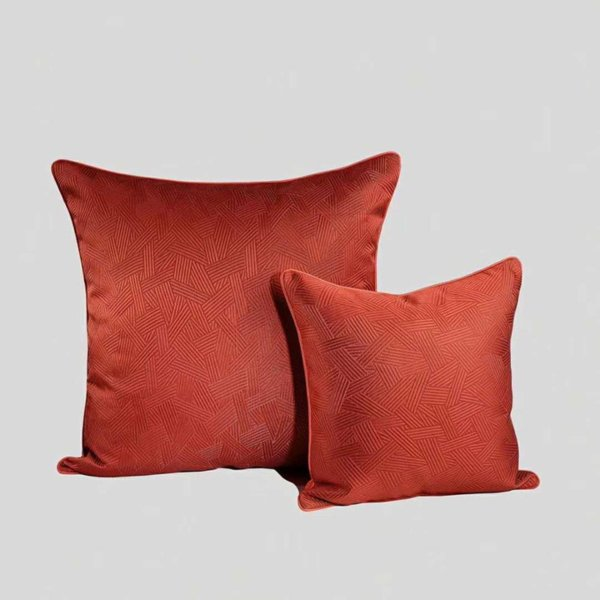 New Geometric Red Sofa Bed Decorative Pillow Throw Pillows *women Luxury  Jacquard Series Hotel Silk Satin Cushion Cover Outdoor Throw Pillows On  Sale ...