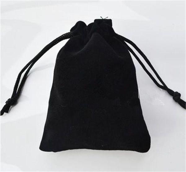 Velvet bijoux pochette cadeau cadeau présent ajustement pour collier bracelet boucle d'oreille tissu sac 7 * 9 cm