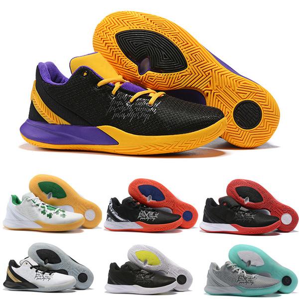 2019 new arrival kyrie flytrap 2 men basketball shoes original sneakers designer brand white balck yellow size 40-46