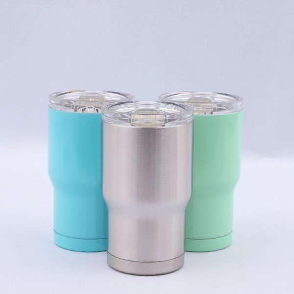 Stainless Steel Tumbler 14Oz 3 colors water bottle Double Wall Insulation Vacuum Water Coffee Mugs Car Cups With Lids