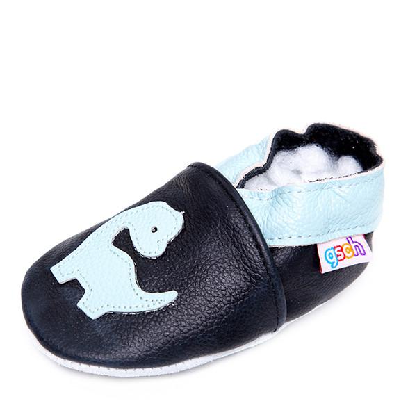Gsch Bebek Boys 'Tarama Terlik Bebek Ve Yürüyor Öncesi yürüteç Ayakkabı Yumuşak Deri Süet Sole İlk Yürüyüş Moccasins kaymaz J190517