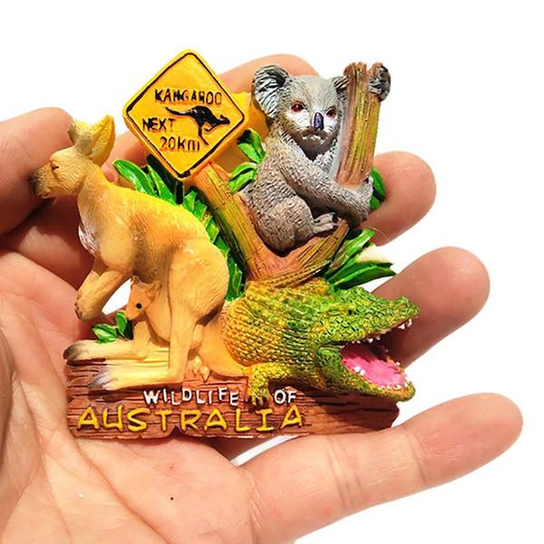 Австралия 3D Кенгуру Магнит На Холодильник Магниты На Холодильник Настенный Магнит Украшение Дома Туристические Сувениры Ремесел