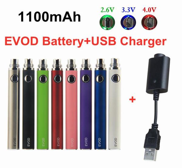 EVOD VV 1100mAh Battery+USB Charger