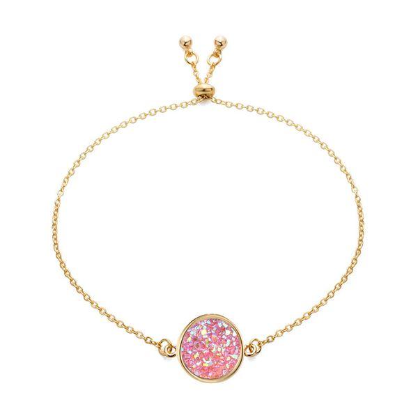 10 Color Women Bracelets Round Diamond Jewelry Female Bracelet Crystal Cluster Bracelets Natural Rainstone Stone Hand Wrist Charm Ornaments