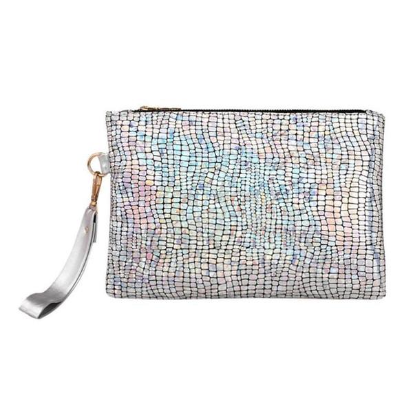 2019 Ladies Sequin Hand bag New Bling Day Cluthes Women Laser Stone PU Leather Handbag Female Party Envelope Bag Bolsa Feminina