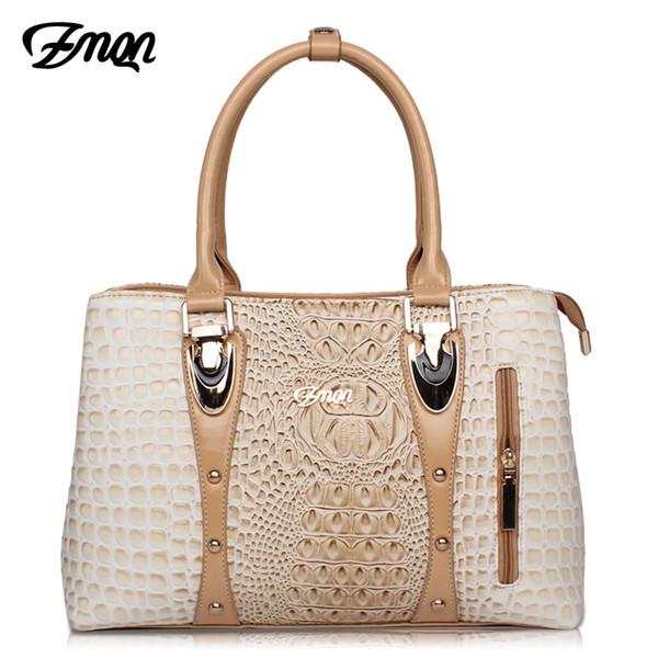 Zmqn Luxury Handbags Women Bags Designer Bags For Women 2019 Fashion Crocodile Leather Tote Bags Handbag Women Famous Brand A804 Y19051502