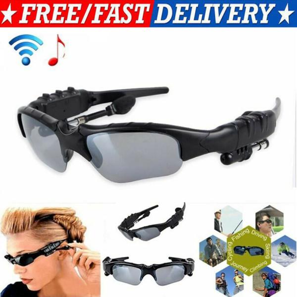 Bluetooth UV Güneş Gözlükleri Kulaklık Kablosuz Stereo Müzik Kulaklığı micphone
