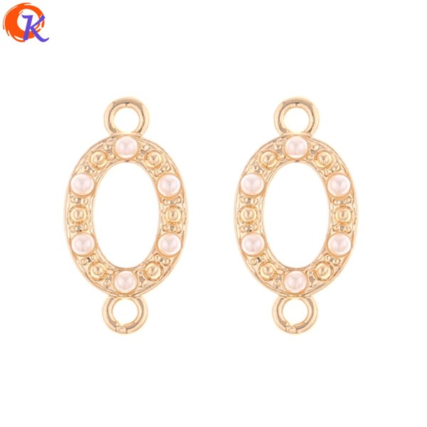 wholesale 100Pcs 11*22MM Jewelry Making/Earring Connectors/Oval Shape/DIY Earring Accessories/Hand Made/Earring Findings