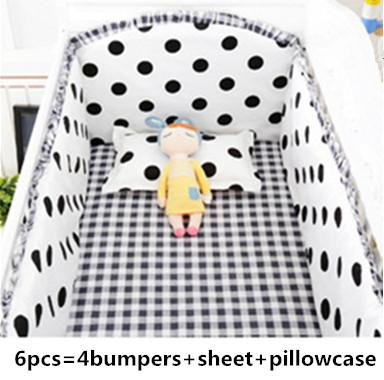 Promotion! 6PCS Animals Baby Bedding Set Boy Baby Cot Crib Bedding Set ,include (bumpers+sheet+pillow cover)