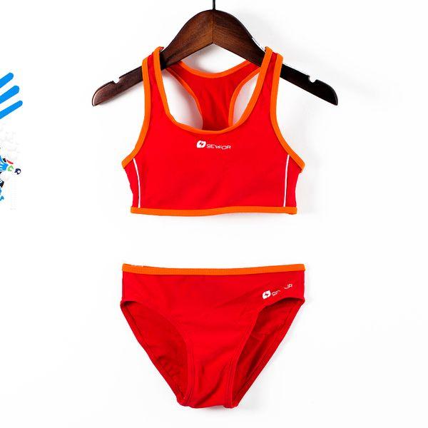 Girls Sports Swimsuits 4-14y Split Sporting Swimming Suits Professional Tankini Suit Children Training Swimwear G47-K564