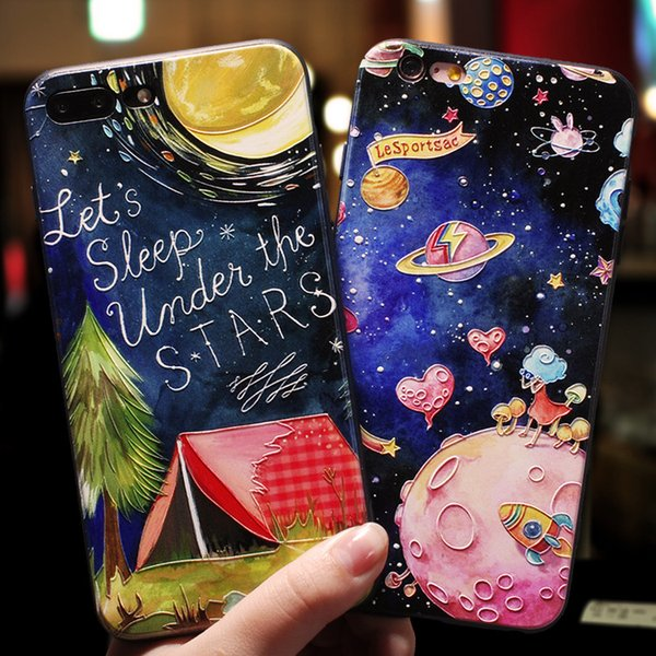 3D Animals Embossed Silicone Soft Cover Case For iPhone 5 5S Se 6 6S 7 8 Plus X Xr Xs Max