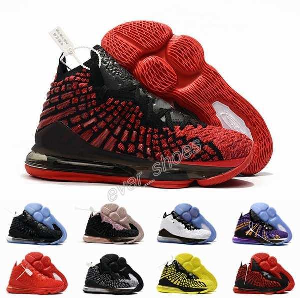 2019 New James 17 Basketball Chaussures Hommes Hommes Violet Triple Noir Blanc 17s Jaune Sport Baskets Baskets Chaussures 7-12
