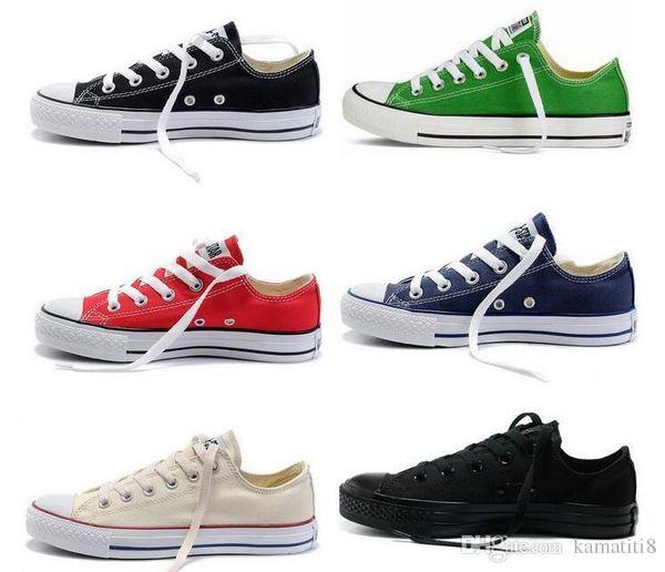 Preço de fábrica preço promocional! Femininas sapatas de lona mulheres e homens, alto / Baixo Estilo Clássico Sapatos de Lona Sapatilhas Sapato de Lona