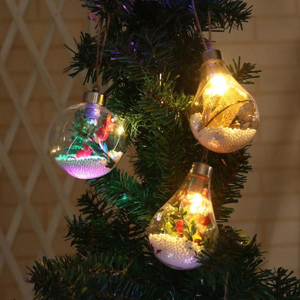 Solar Ball Bulb Hanging Lamp Christmas Tree Decoration Home Bedroom Night Light Copper Wire Garden Pendant
