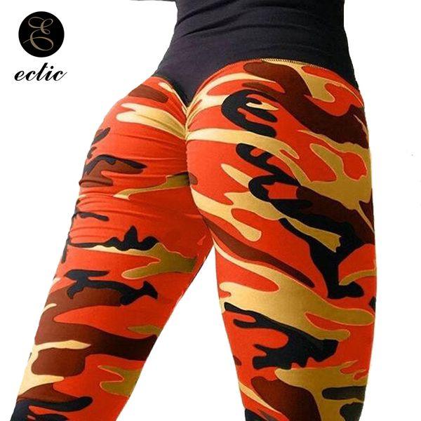 Rosa Camo Leggings Camouflage Sexy Digitaler Bleistift Geraffte Beute Scrunch Leggings Frauen Gym High Taille Push Up Patchwork
