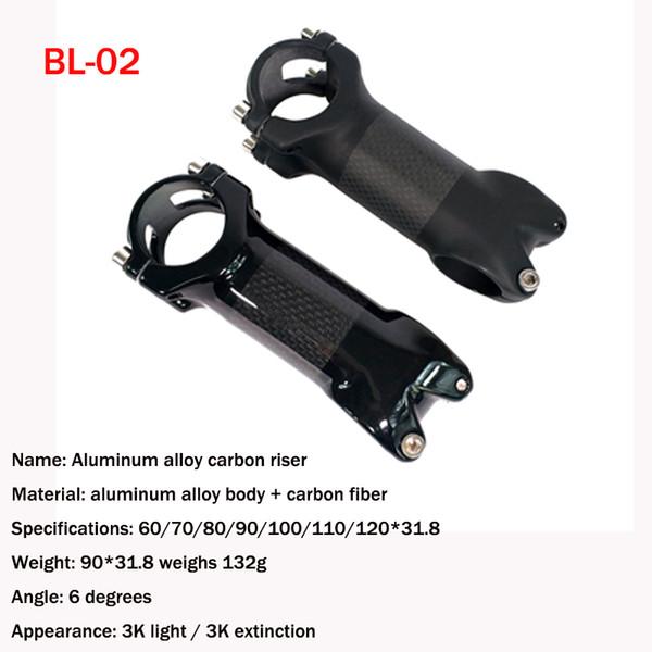 Aluminum alloy riser mountain road dead fly handlebar stand vertical pipe pack carbon riser 28.6*31.8mm