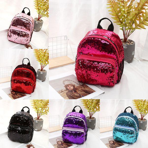 2019 Reversible Sequins School Backpack for Girl Womens 6 Colors Magic Glitter Shoulder Bags Lightweight Travel Backpacks Kids Daypack M183F