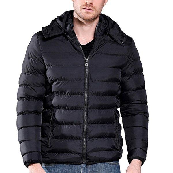 Erkekler Slim Fit Parka Kış Kapüşonlu Kirpi Ceket Erkek Büyük Boy Pamuklu Ceket