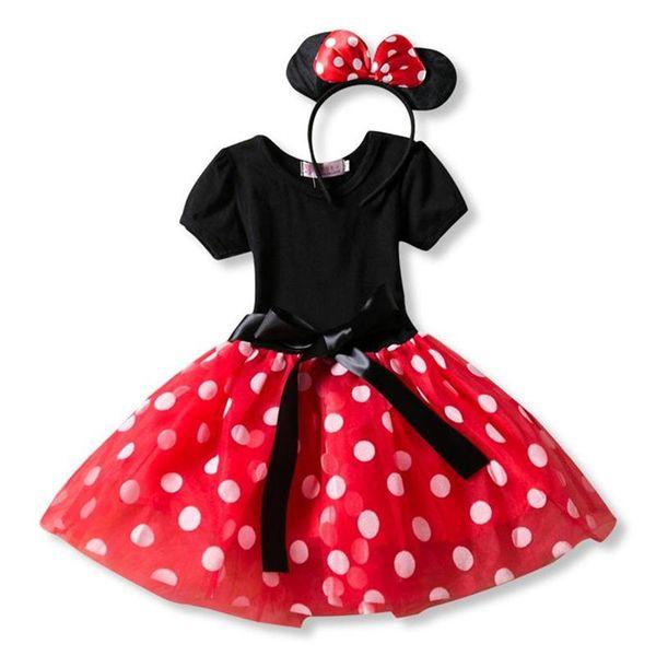 Fancy New Year Baby Girl Natale Santa Dress For Girls Inverno Mouse vacanza bambini Abbigliamento Partito Tulle Bambini Costume XF56