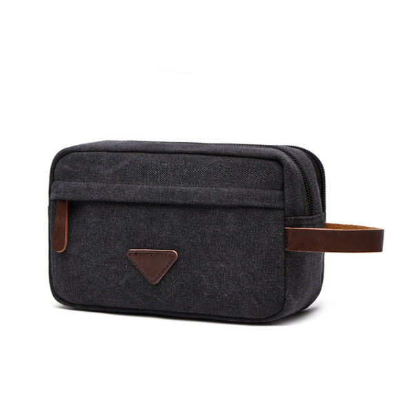 Portable Travel Bag Accept zipper wash and make-up bag Heavy casual hand-held canvas bag Pure colour pocket purse Accept cosmetic bags