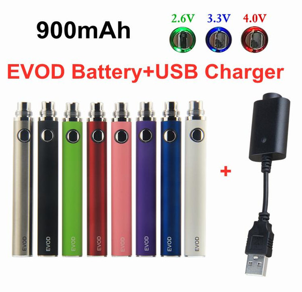 EVOD VV 900mAh Battery+USB Charger