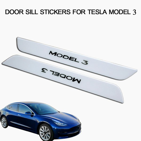 New Car Stainless Steel Door Sill Scuff Plate Guard Protector for Tesla Model 3/Stainless Steels Doors Sills Scuffs Plates Guards Protectors