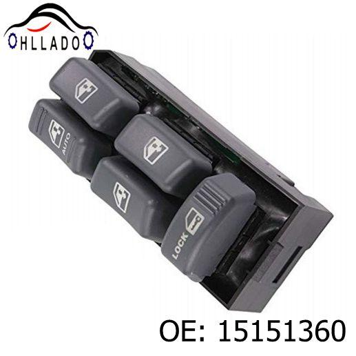 best selling HLLADO New Electric Power Window Master Switch 15151360 19244658 for 1999-2005 G M C Chevrolet C adillac Truck Auto Accessories